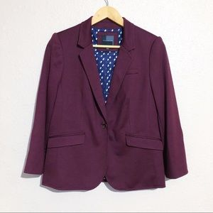 The Limited Burgundy Knit Blazer w/ Elbow Patches
